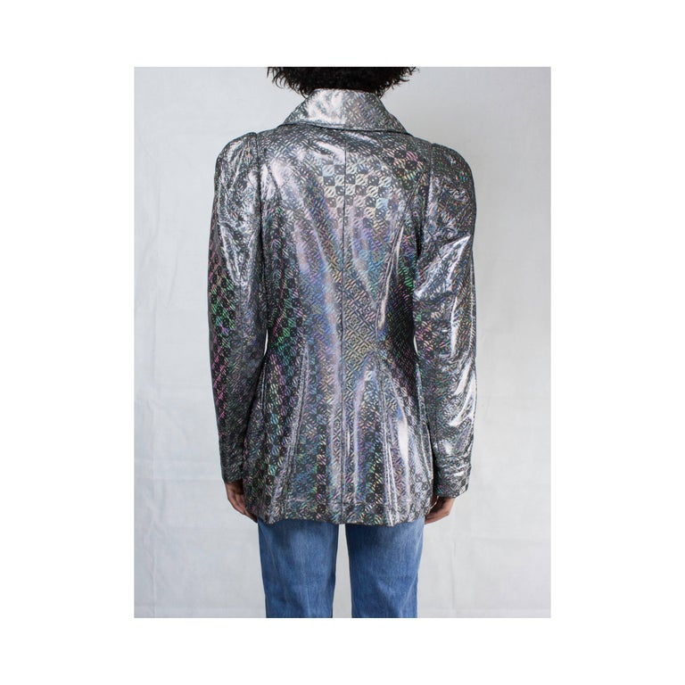 Vivienne Westwood unique couture   metallic  padded saharien jacket, circa 1990s In New Condition For Sale In London, GB