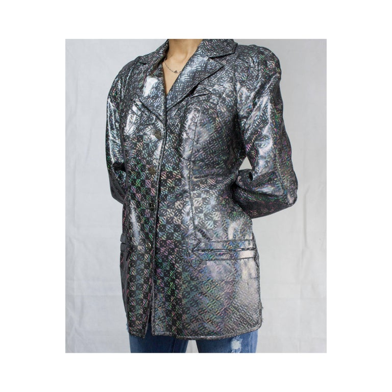 Women's Vivienne Westwood unique couture   metallic  padded saharien jacket, circa 1990s For Sale