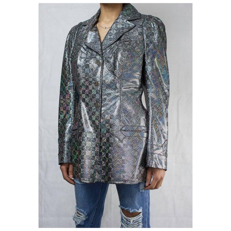 Vivienne Westwood unique couture   metallic  padded saharien jacket, circa 1990s For Sale 1
