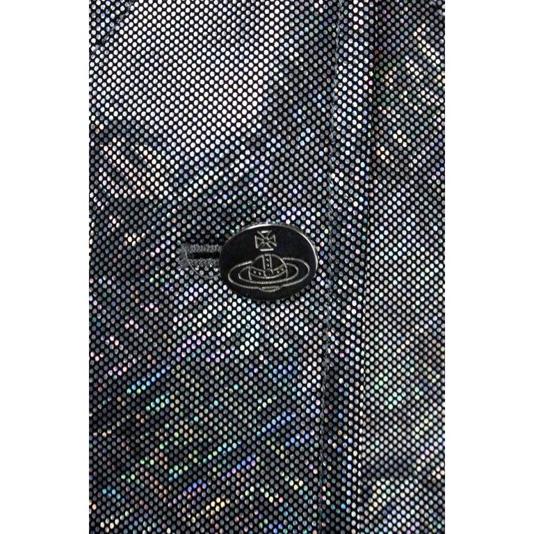 Vivienne Westwood unique couture   metallic  padded saharien jacket, circa 1990s For Sale 3