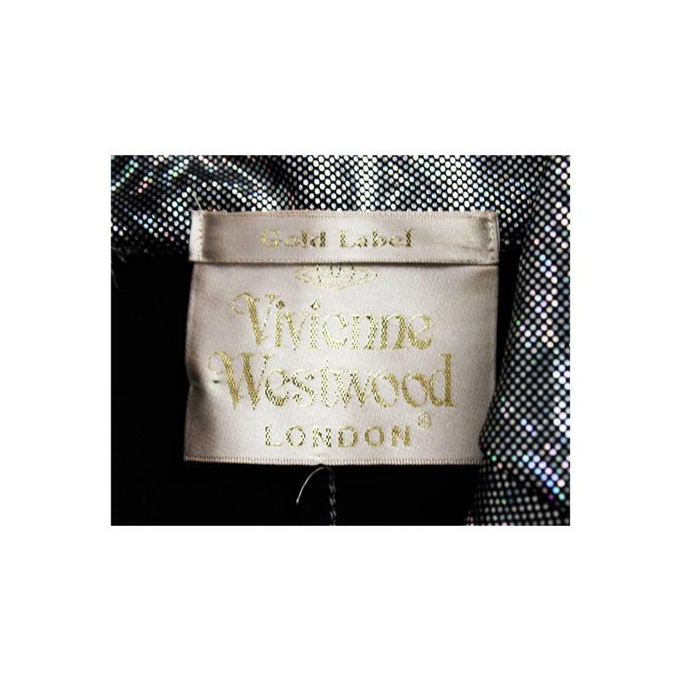 Vivienne Westwood unique couture   metallic  padded saharien jacket, circa 1990s For Sale 4
