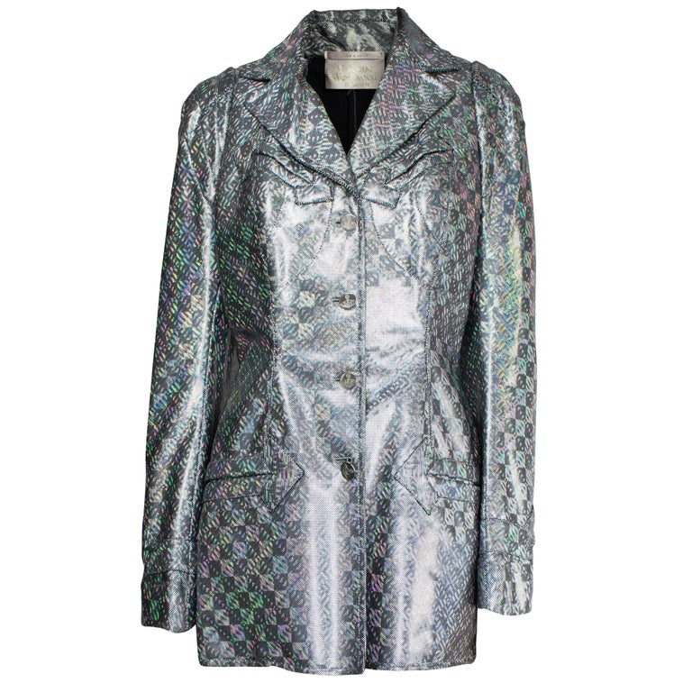 Vivienne Westwood unique couture   metallic  padded saharien jacket, circa 1990s For Sale