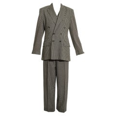 Vivienne Westwood unisex checked wool three-piece pant suit, fw 1992