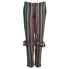 Vivienne Westwood unisex multicoloured striped wool bondage pants, fw 1995