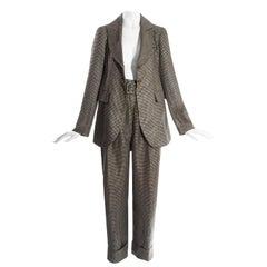 Vivienne Westwood 'Vive la Cocotte' houndstooth wool pant suit, fw 1995