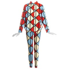 Vivienne Westwood 'Voyage to Cythera' harlequin leggings and shirt set, fw 1989
