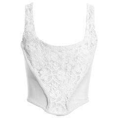 Vivienne Westwood white cotton lace corset, fw 1994