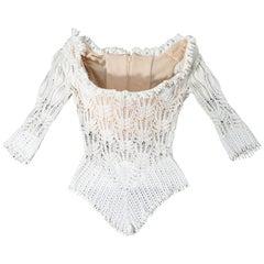 Vivienne Westwood white lace knit corset, ss 1994