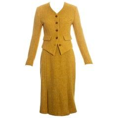 Vivienne Westwood yellow wool skirt suit fw 1994