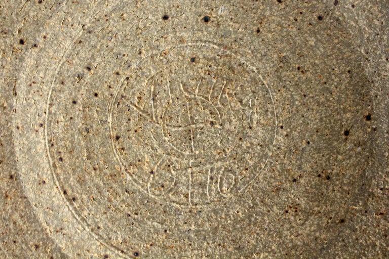 Vivika & Otto Heino California Studio Art Pottery Stoneware Low Bowl Plate For Sale 6