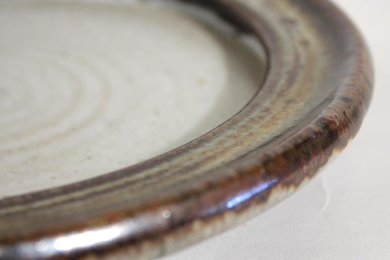 Vivika & Otto Heino California Studio Art Pottery Stoneware Low Bowl Plate For Sale 3