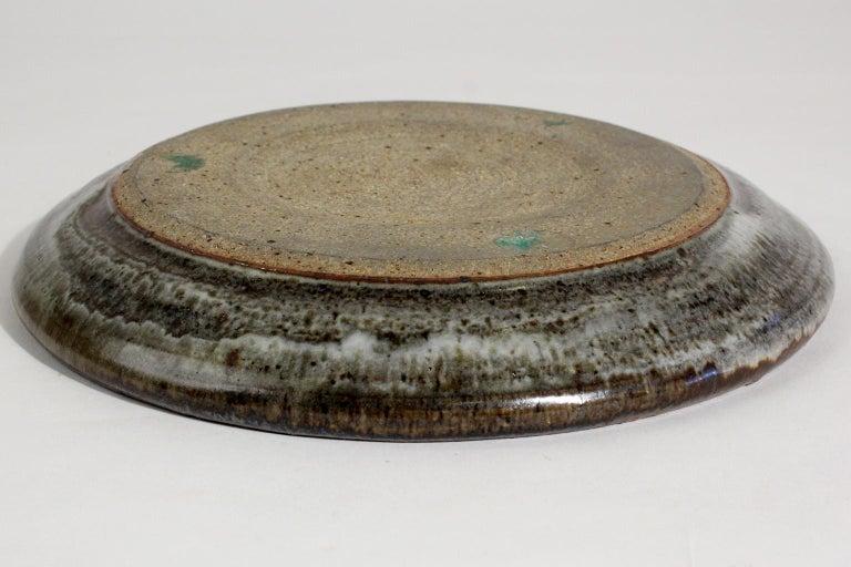 Vivika & Otto Heino California Studio Art Pottery Stoneware Low Bowl Plate For Sale 4