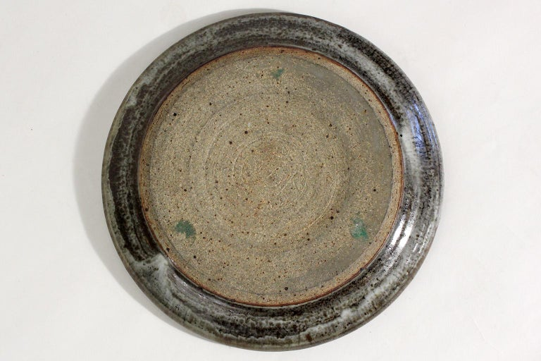 Vivika & Otto Heino California Studio Art Pottery Stoneware Low Bowl Plate For Sale 5