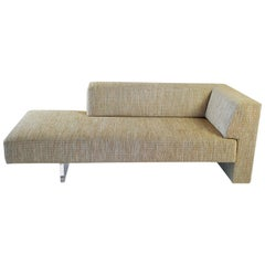 Vladimir Kagan Omnibus I One Arm Loveseat in Upholstered Seat with Lucite Base