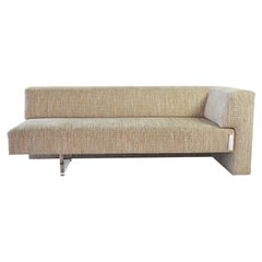 Vladimir Kagan Omnibus I One Arm Sofa in Upholstered Seat with Lucite Base