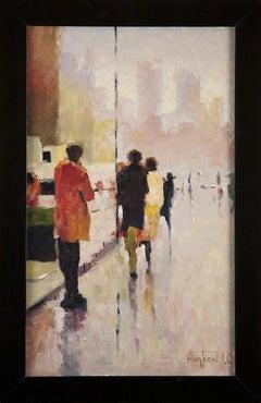 Oil painting 'Street Scene' by Vladimir Andreev