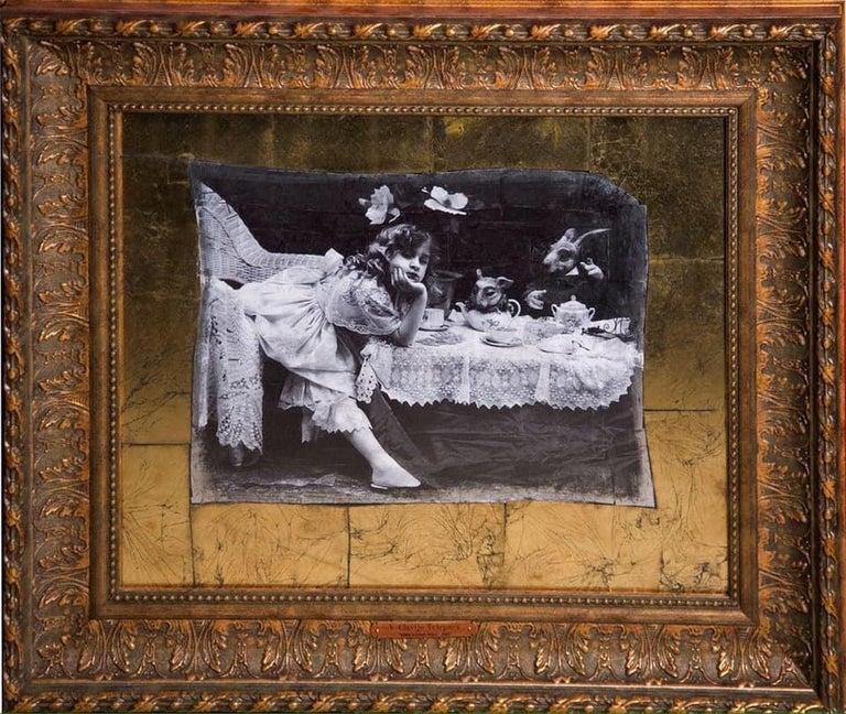 """Vladimir Clavijo-Telepnev Black and White Photograph - """"Alice in Wonderland"""" Photography 32""""x28""""in Ed 2/3 by VLADIMIR CLAVIJO-TELEPNEV"""