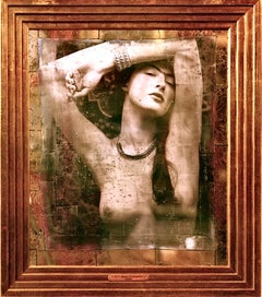 """Salome"" from the famous ""Sensuality"" Series, Mirror, Eglomise"