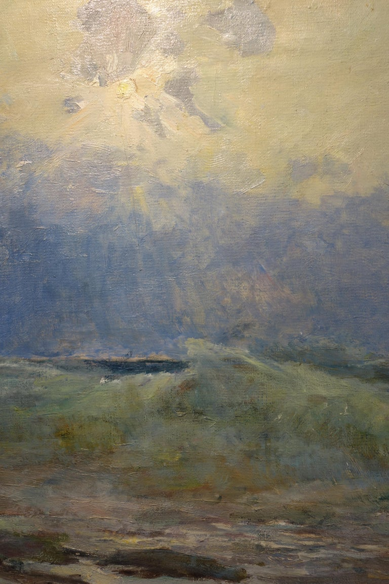 Sea, Waves  Oil  cm. 64 x 54 Light blue,Offer Free Shipping - Impressionist Painting by Vladimir Joukov