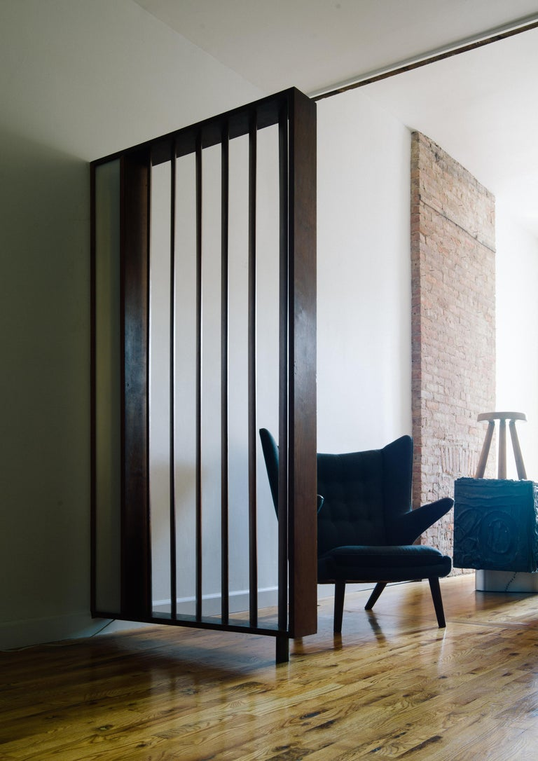 Vladimir Kagan Architectural Louvered & Illuminated Room Divider with COA, 1967 In Good Condition For Sale In Brooklyn, NY