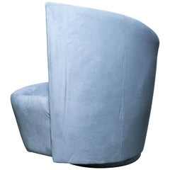 Vladimir Kagan Art Deco Fan Back Swivel Chair