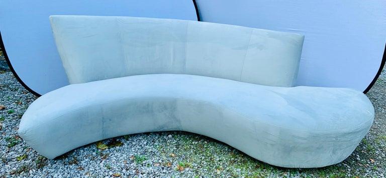 American Vladimir Kagan Bilbao Serpentine Curved Sofa with New Upholstery