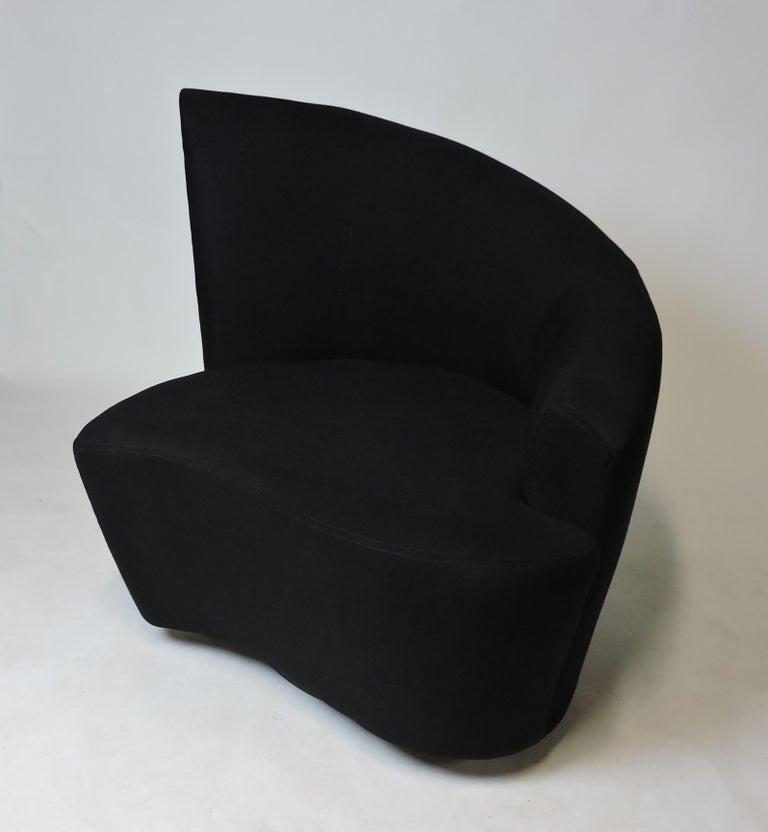 Mid-Century Modern Vladimir Kagan Bilbao Swivel Lounge Chair for Weiman For Sale