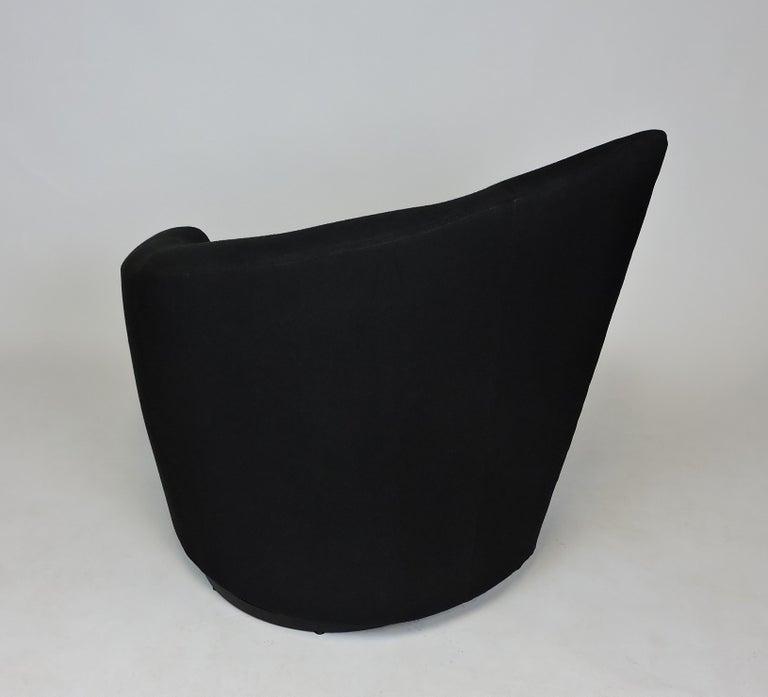 American Vladimir Kagan Bilbao Swivel Lounge Chair for Weiman For Sale
