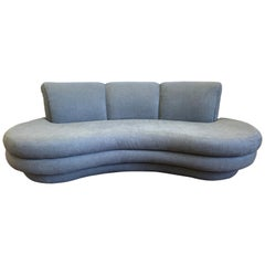 Vladimir Kagan Cloud Sofa for Directional Newly Upholstered in Slate Gray