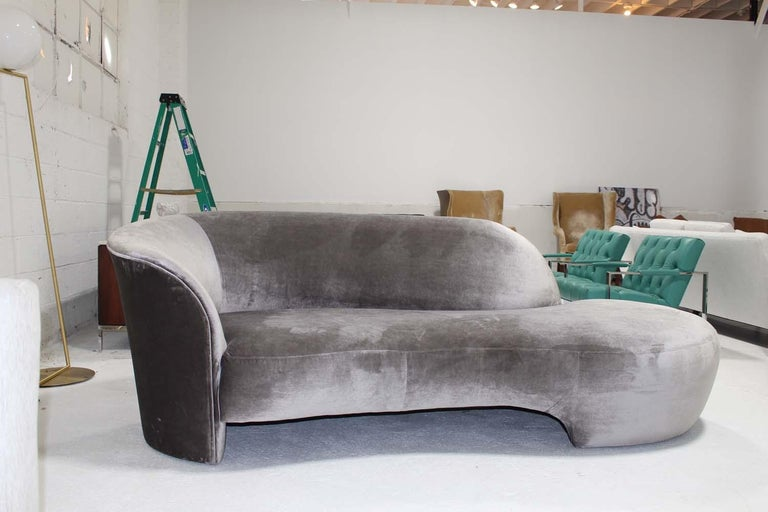 Vladimir Kagan Cloud Sofa In Mohair Pair For Sale At 1stdibs