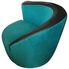 "Vladimir Kagan ""Corkscrew"" Swivel Chair"