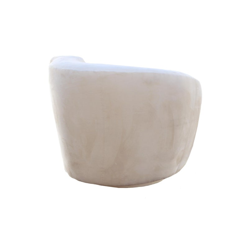 Modern Vladimir Kagan Corkscrew Swivel Lounge Armchair For Sale