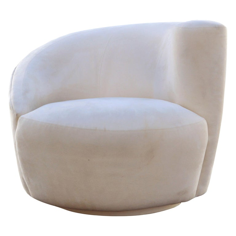Vladimir Kagan Corkscrew Swivel Lounge Armchair For Sale