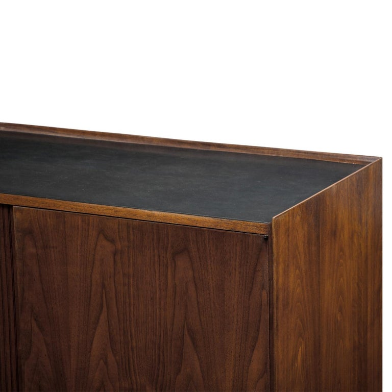 Vladimir Kagan Credenza with Tambour Doors, 1950s In Excellent Condition For Sale In New York, NY
