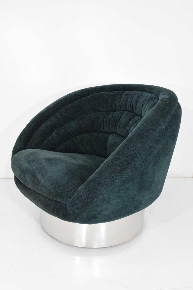 Mid-Century Modern Vladimir Kagan Crescent Chair For Sale