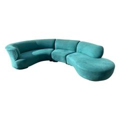 Vladimir Kagan Curved Cloud Sofa Sectional 3 Piece