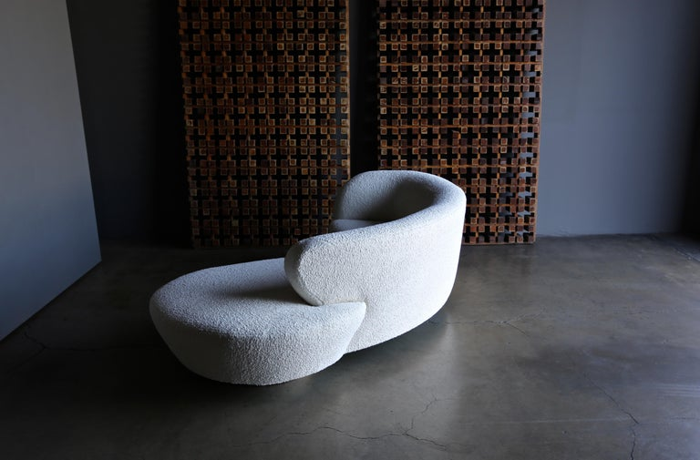 Vladimir Kagan Curved Serpentine Cloud Sofa for Directional For Sale 1