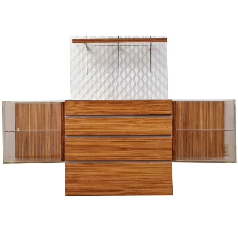 Vladimir Kagan Design Mid Century Modern Bar Credenza Console Sideboard Buffet