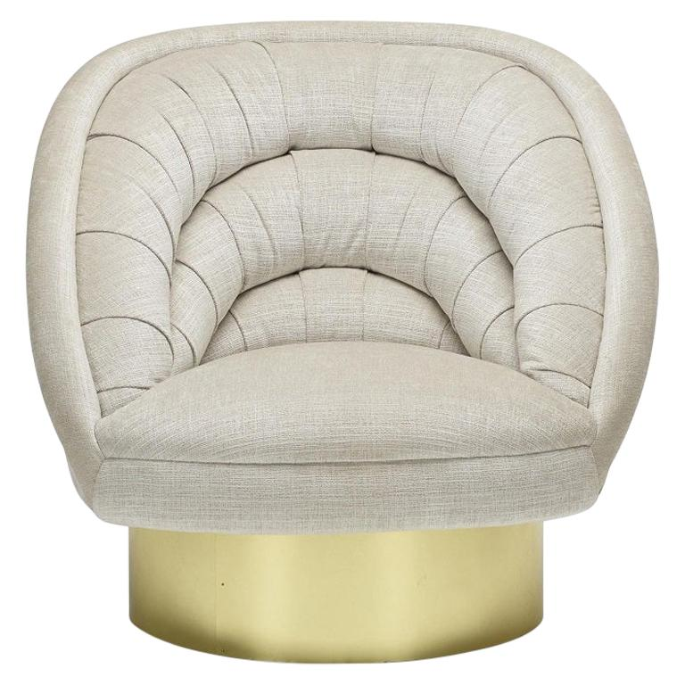 "Vladimir Kagan Designs ""Crescent"" Swivel Club Chair For Sale"