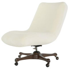 Vladimir Kagan Desk Chair in Shearling for Kagan-Dreyfuss, circa 1950s