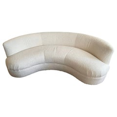 Vladimir Kagan Directional Cloud Serpentine Sofa Freshly Upholstered in Kravet