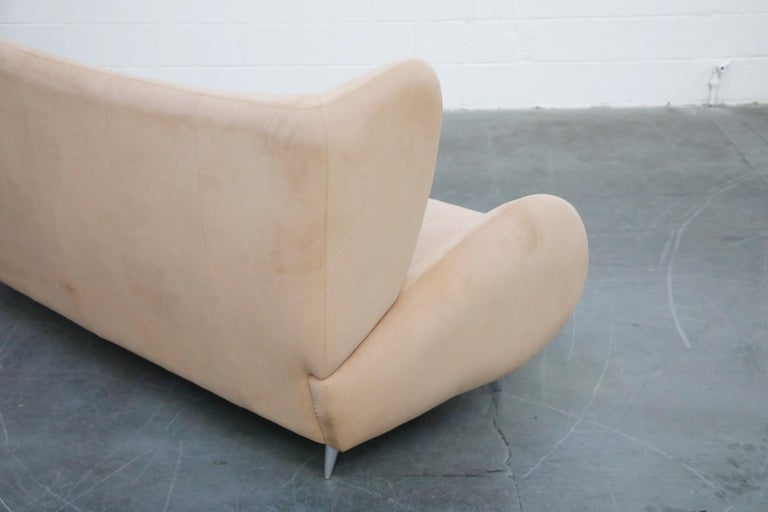 Vladimir Kagan for American Leather 'Fiftyish' Wingback Sofa, Signed For Sale 13