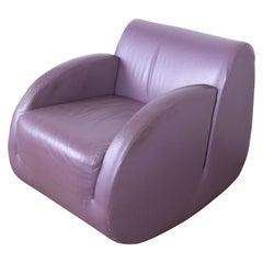 "Vladimir Kagan for American Leather ""Rock Star"" Modern Leather Rocking Chair"