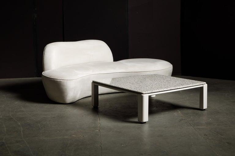 Vladimir Kagan for American Leather 'Zoe' Sofa in White Alcantara, Signed For Sale 12