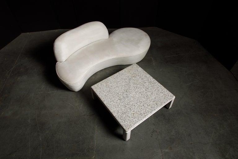Vladimir Kagan for American Leather 'Zoe' Sofa in White Alcantara, Signed For Sale 13