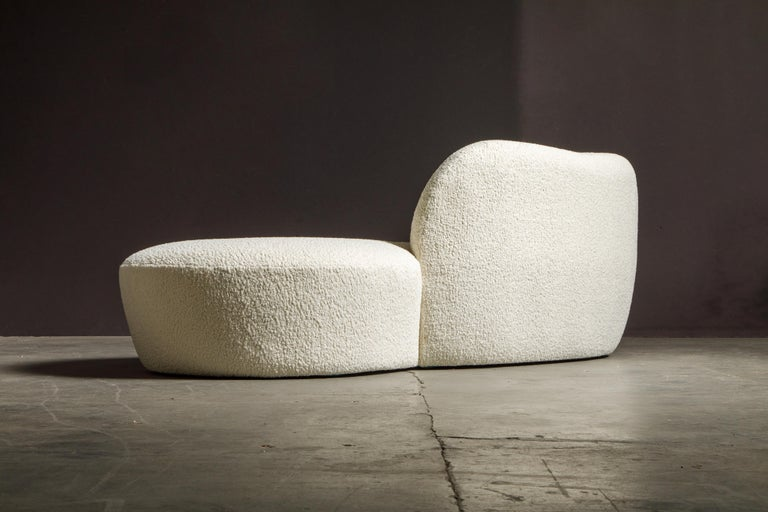 Vladimir Kagan for American Leather 'Zoe' Sofa Reupholstered in Bouclé, Signed 6