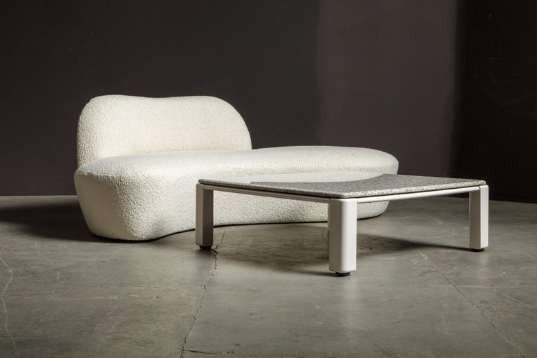 Vladimir Kagan for American Leather 'Zoe' Sofa Reupholstered in Bouclé, Signed 10