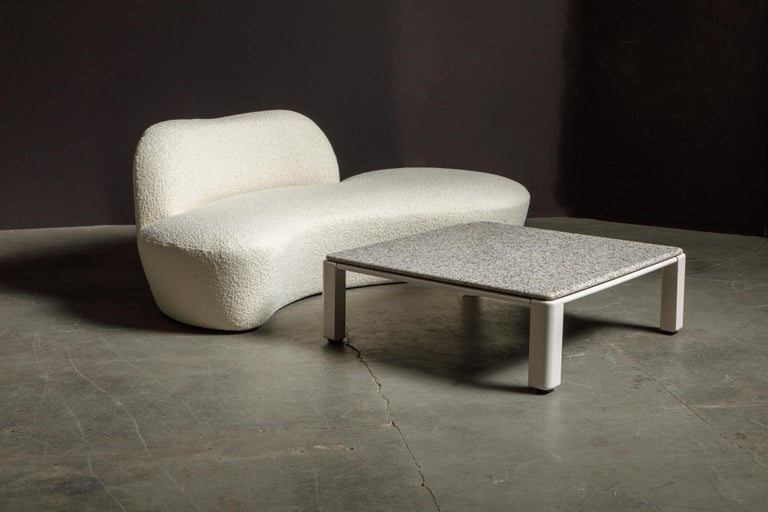 Vladimir Kagan for American Leather 'Zoe' Sofa Reupholstered in Bouclé, Signed 11