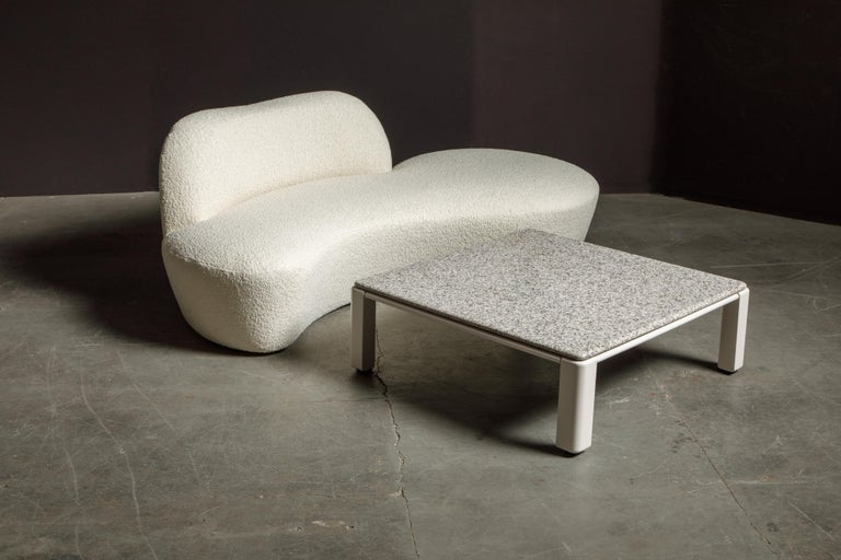 Vladimir Kagan for American Leather 'Zoe' Sofa Reupholstered in Bouclé, Signed 12