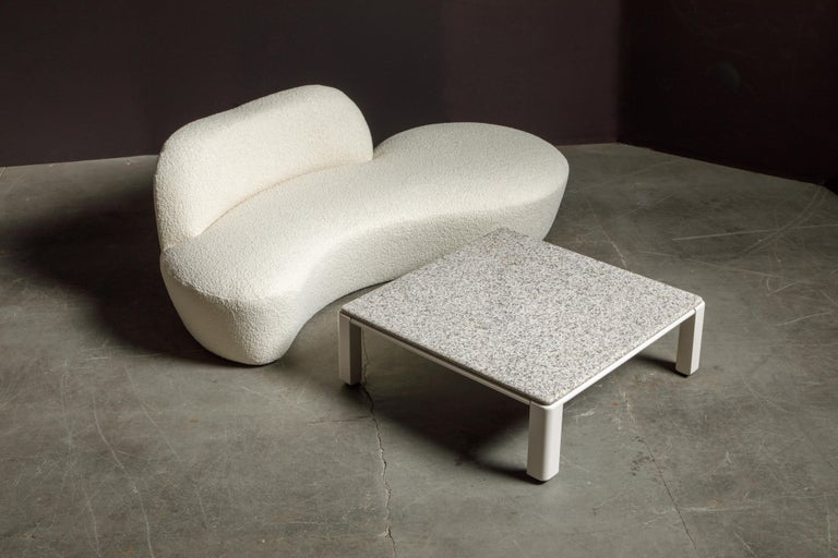 Vladimir Kagan for American Leather 'Zoe' Sofa Reupholstered in Bouclé, Signed 13